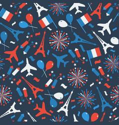 bastille day independence day of france symbols vector image