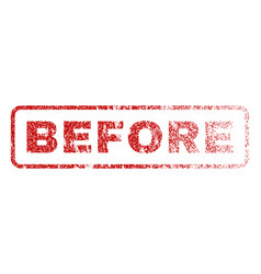 Before rubber stamp vector