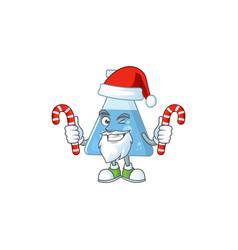 blue chemical bottle humble santa having candies vector image
