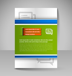 Brochure template Editable A4 poster for design vector