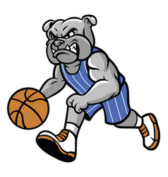 Bulldog basketball mascot vector