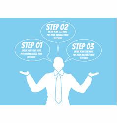 businessman option template step ranking blue vector image