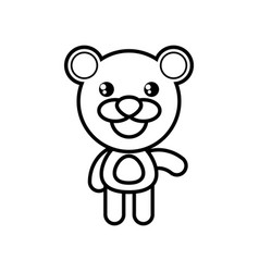 cartoon bear animal outline vector image