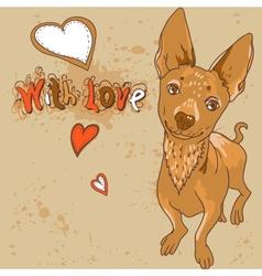 Cartoon with dog vector image