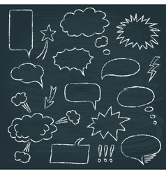 Comics style speech bubbles set vector