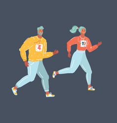 couple running or jogging for fitness vector image