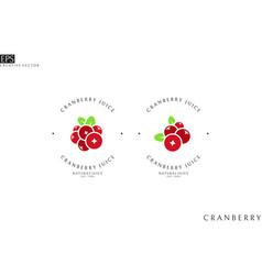 Cranberry juice logo template vector
