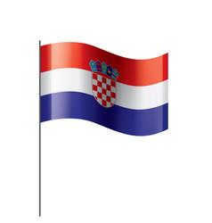 Croatia flag on a white vector