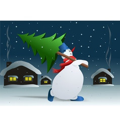 day before Christmas vector image