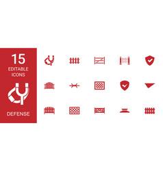defense icons vector image