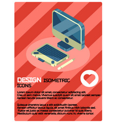 design color isometric poster vector image