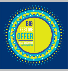 diwali big festive offer banner design vector image