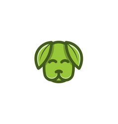 dog leaf pet healthy logo designs inspiration vector image