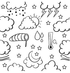 Doodle of weather set collection stock vector