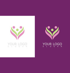 flower beauty care logo vector image