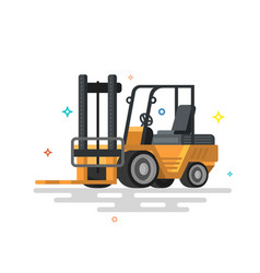 forklift truck fork loader vector image