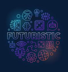 Futuristic round colorful in vector
