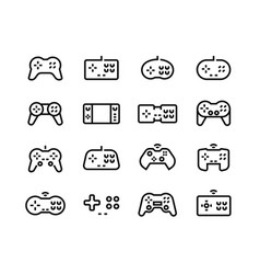 gamepad icons video game joystick retro vector image