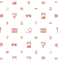 garden icons pattern seamless white background vector image