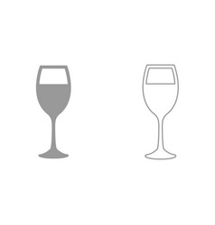glass of wine it is black icon vector image