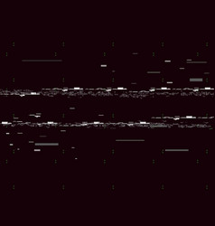Glitch television on black background glitched vector