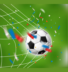 Goal soccer ball a net world competition concept vector