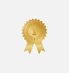 gold medal design vector image