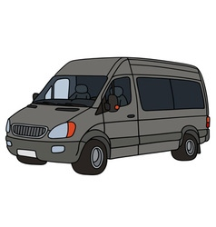 Gray delivery car vector
