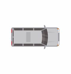 gray minivan top view vector image