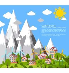 Green world poster vector image