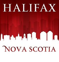 Halifax Nova Scotia Canada city skyline silhouette vector