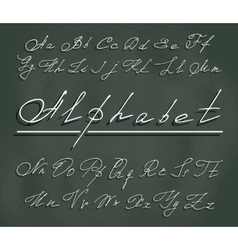 Handwriting font with elegant swirls vector