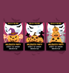 happy halloween invitation posters vector image
