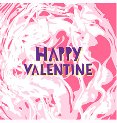 happy valentine hand lettering vector image