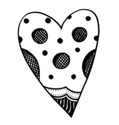 Heart shaped pattern vector