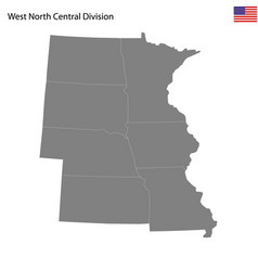high quality map west north central division vector image