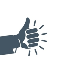 Isolated abstract grey color thumb up logo Human vector