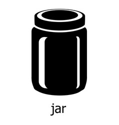 jar icon simple black style vector image