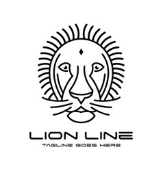 lion head outline logo vector image