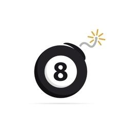 logo design combination of a billiard ball vector image