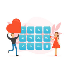 love compatibility with zodiac signs astrological vector image