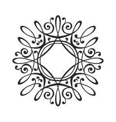 Luxury monogram template vector image