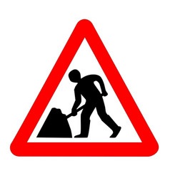 Men at work traffic sign isolated vector