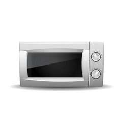 microwave oven isolated on white vector image