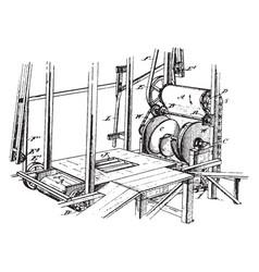 Mixing machine vintage vector