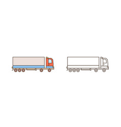 modern logistics truck lorry icon commercial vector image