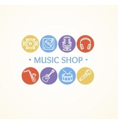 Music Shop Concept vector