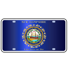 New hampshire license plate flag vector