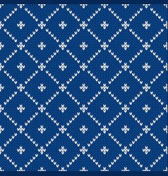 Nordic ethnic style ornament with dots and rhombs vector