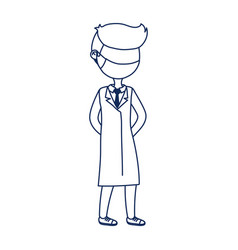 Physician professional practitioner covid 19 vector